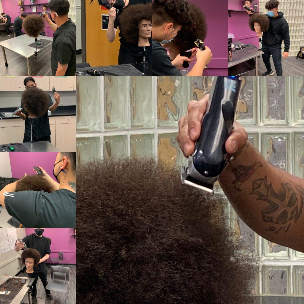 Students hands-n hair